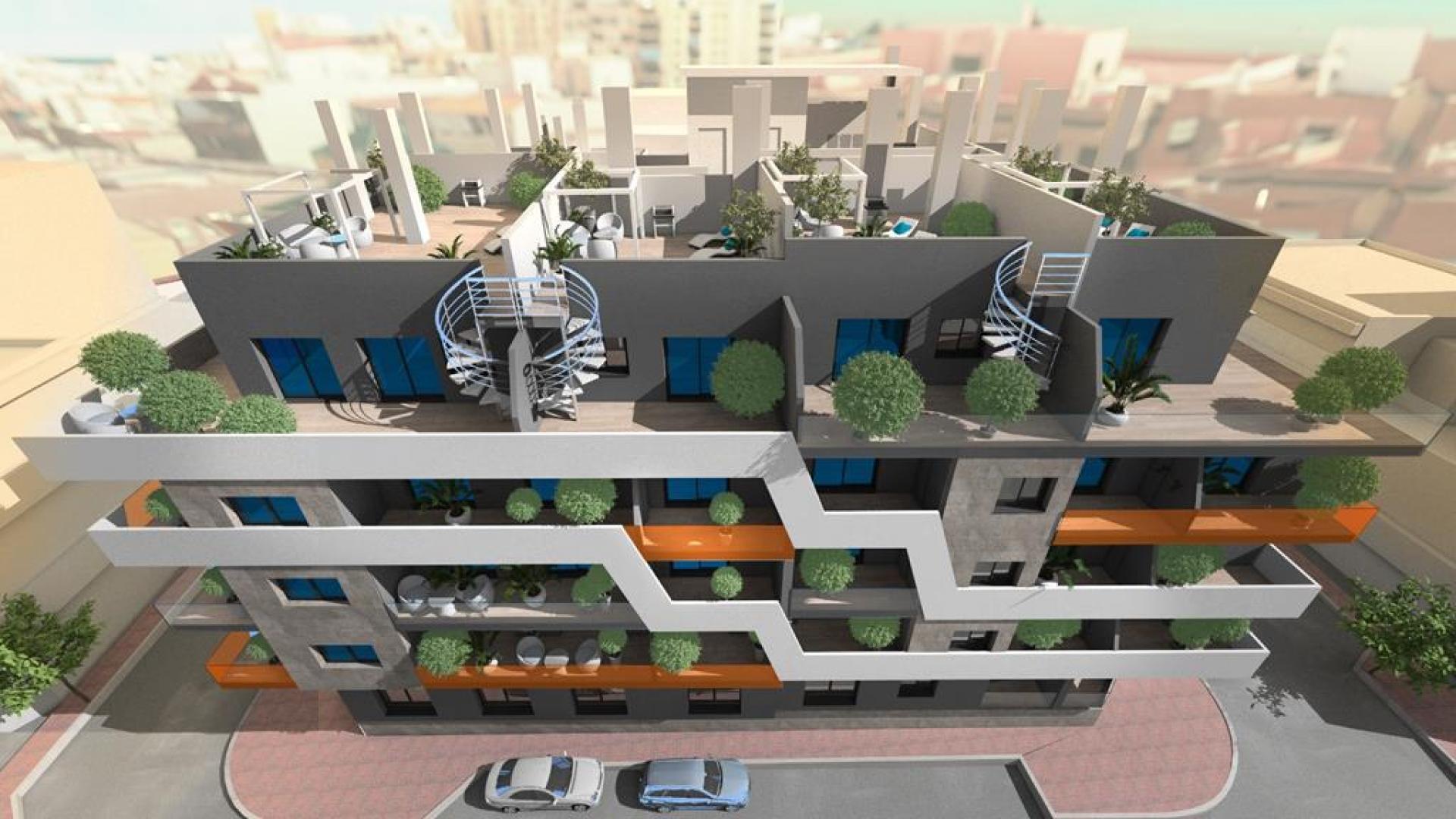 Penthouse/Toppleilighet i Torrevieja – Nye Boliger